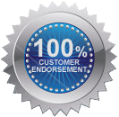 100% customer endorsement