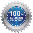 100% solution delivery